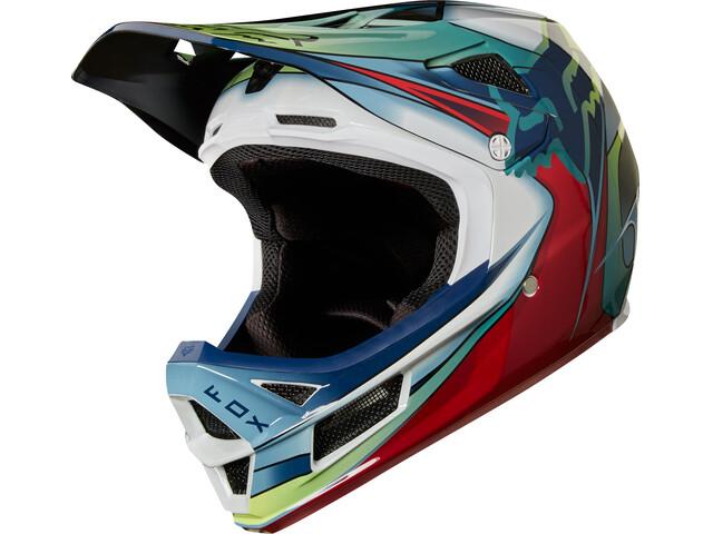 Fox Rampage Pro Carbon Kustom Helmet Men white/red/black